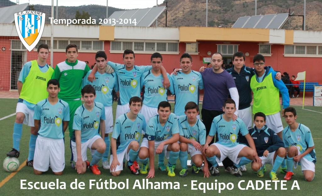 30 EF ALHAMA equipo CADETE A 2013-2014
