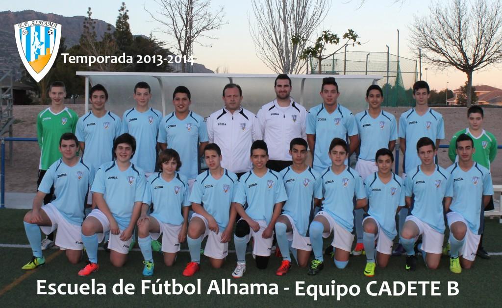 40 EF ALHAMA equipo CADETE B 2013-2014