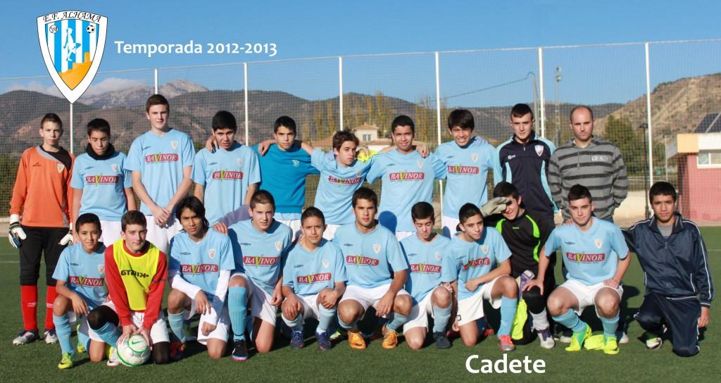 Cadete 2012-2013 baja