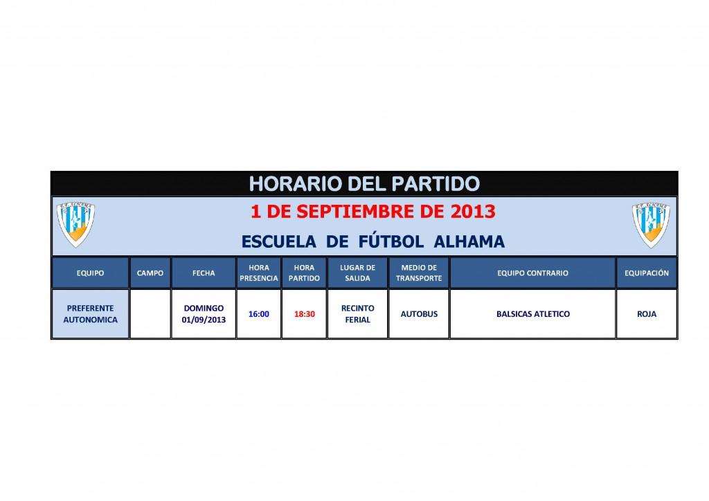 HORARIO SENIOR