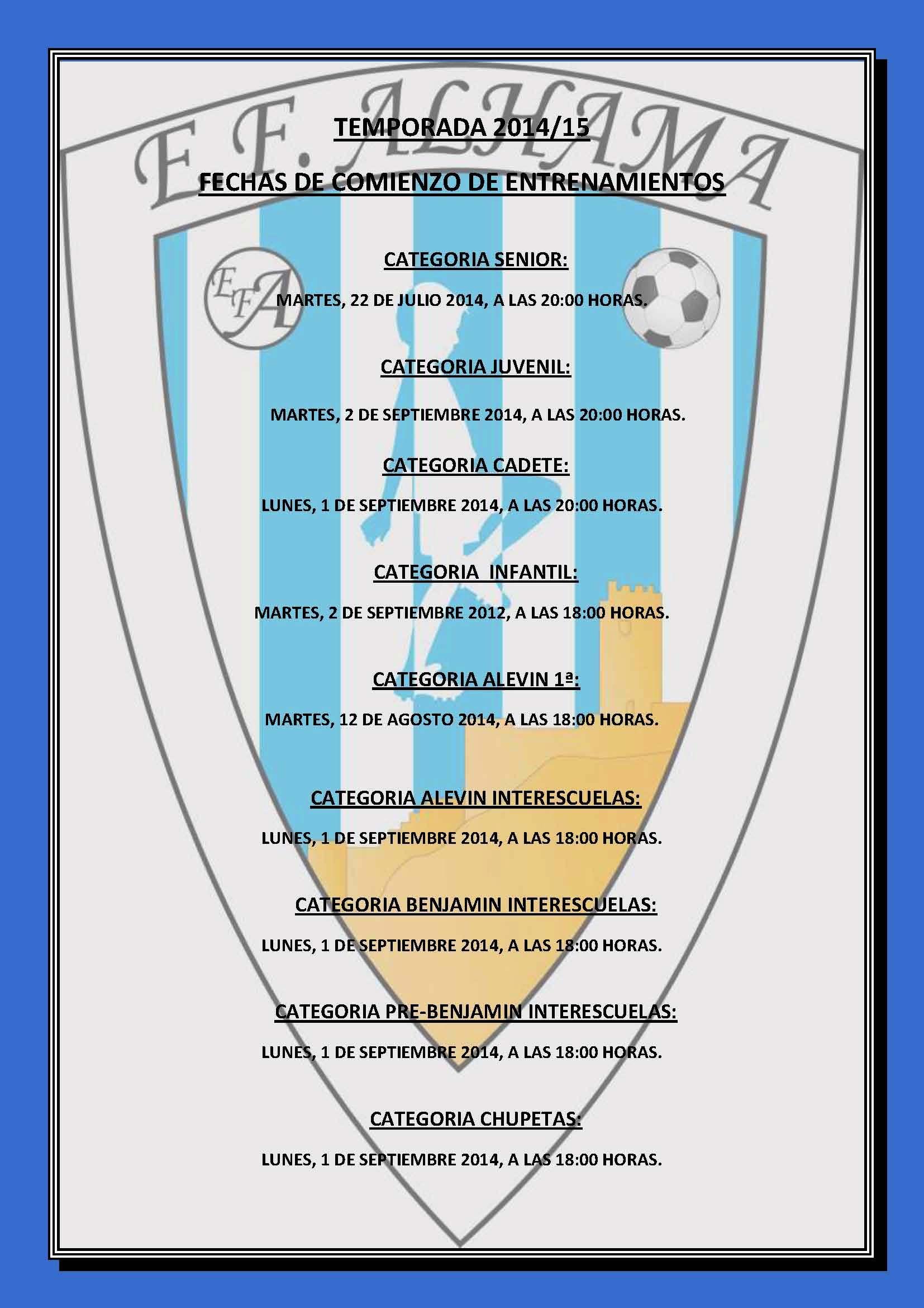 PRETEMPORADA 2014-15